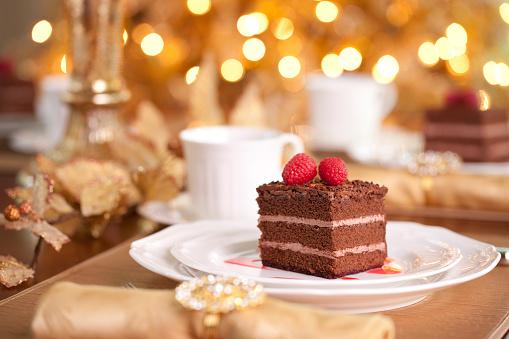 クリスマスケーキ「チョコレートケーキ」:スマホ壁紙(5)