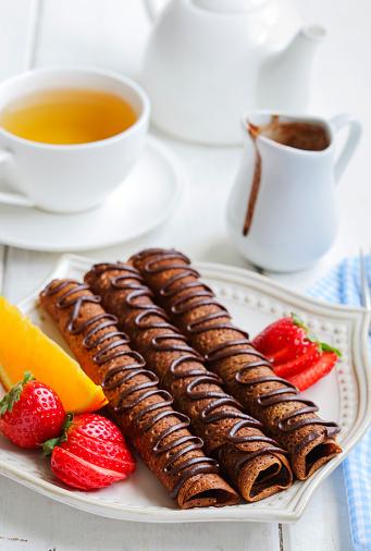 Teapot「Chocolate crepes with tea」:スマホ壁紙(10)