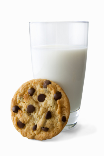 Eating「Chocolate chip cookie with Milk」:スマホ壁紙(0)