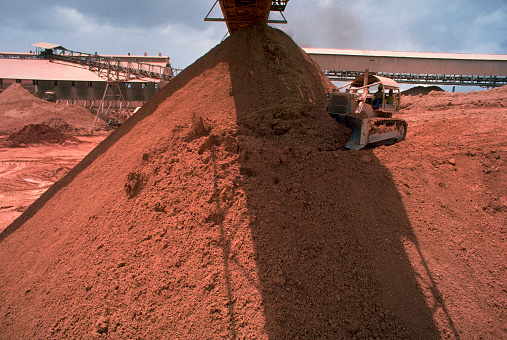 Bauxite「Piles of Bauxite at Suralco Refinery in Moengo」:スマホ壁紙(13)