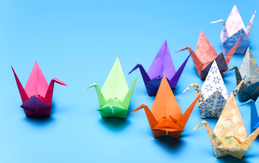 Flock Of Birds「Flock of origami cranes」:スマホ壁紙(14)