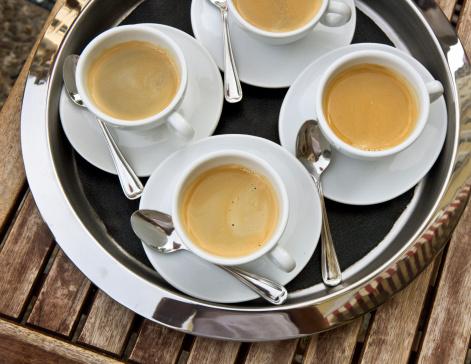朝顔「coffee cups 」:スマホ壁紙(14)