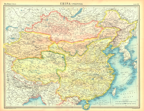 East Asia「Political Map Of China Artist Unknown」:写真・画像(7)[壁紙.com]