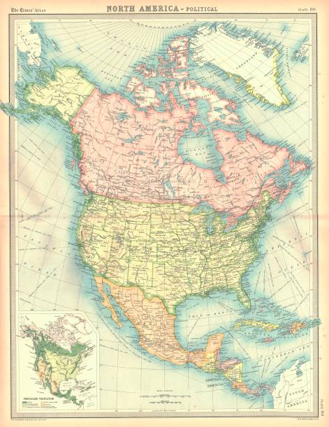Political Map Of North America Artist Unknown:ニュース(壁紙.com)