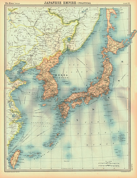 Pacific Ocean「Political Map Of The Japanese Empire」:写真・画像(13)[壁紙.com]