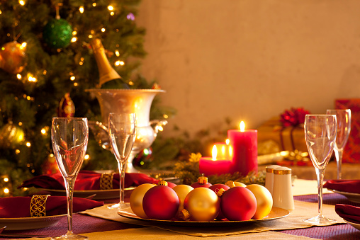 Place Setting「Elegant Christmas table setting」:スマホ壁紙(12)