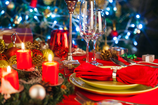 Wine Bottle「Elegant Christmas table setting」:スマホ壁紙(17)