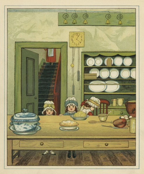 絵「Three Victorian sisters at a dining table」:写真・画像(16)[壁紙.com]