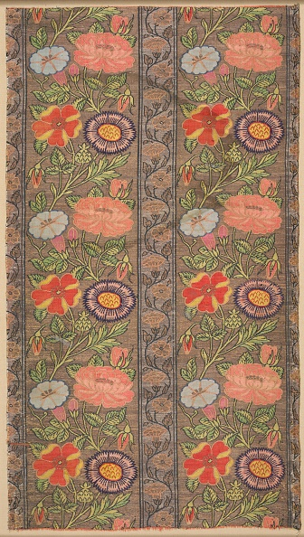 Silk「Floral Striped Silk On A Golden Ground」:写真・画像(18)[壁紙.com]