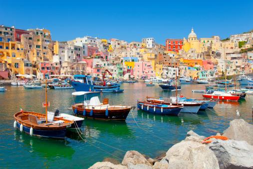 Amalfi Coast「Italy, Procida island, Corricella.」:スマホ壁紙(6)