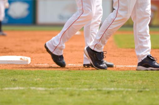 Professional Sport「Baseball Player Running to First Baseball during Baseball Game」:スマホ壁紙(18)