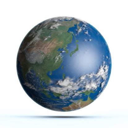 Map of the world「Planet Earth Pacific Ocean, Japan, Australia, China」:スマホ壁紙(13)