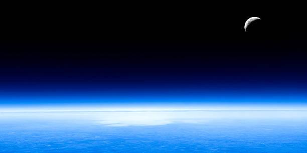 planet earth and moon:スマホ壁紙(壁紙.com)