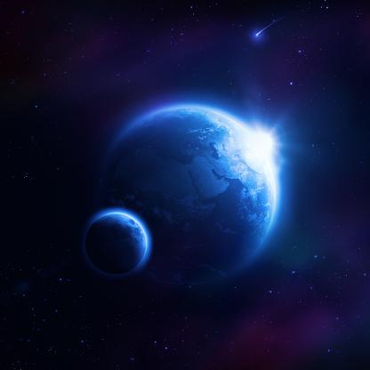 月「地球、ムーン」:スマホ壁紙(12)