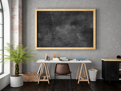Sign「Work Space with Blackboard」:スマホ壁紙(0)