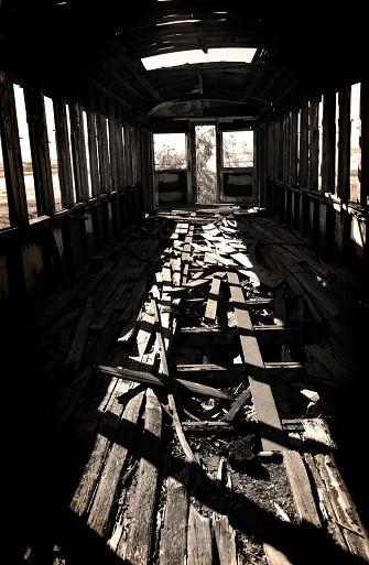 Train Interior「Inside of Abandoned and Burned Train Car」:スマホ壁紙(17)