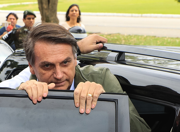Jair Bolsonaro「Brazilian Presidential Candidate Jair Bolsonaro Votes In Country's Election」:写真・画像(8)[壁紙.com]