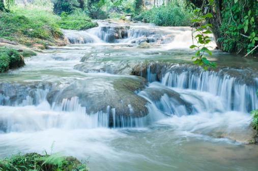 Agua Azul Cascades「waterfalls in jungle, Agua Azul」:スマホ壁紙(1)
