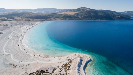 インド洋「こそ湖ブルドゥル トルコの空撮写真」:スマホ壁紙(8)