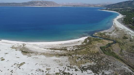 インド洋「こそ湖ブルドゥル トルコの空撮写真」:スマホ壁紙(5)