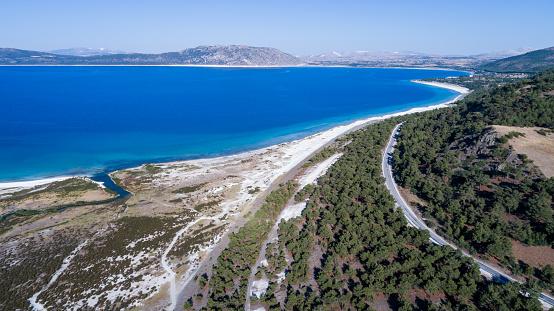 インド洋「こそ湖ブルドゥル トルコの空撮写真」:スマホ壁紙(13)