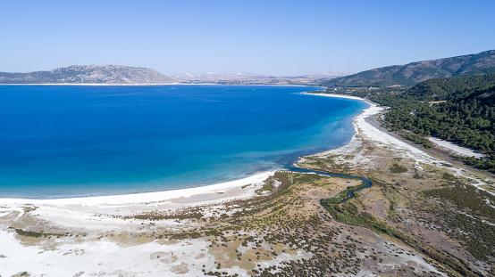 インド洋「こそ湖ブルドゥル トルコの空撮写真」:スマホ壁紙(7)