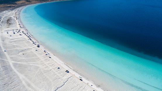 インド洋「こそ湖ブルドゥル トルコの空撮写真」:スマホ壁紙(10)