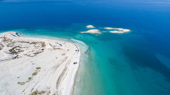 インド洋「こそ湖ブルドゥル トルコの空撮写真」:スマホ壁紙(12)
