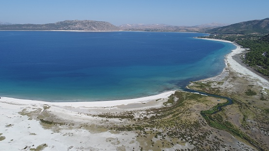 インド洋「こそ湖ブルドゥル トルコの空撮写真」:スマホ壁紙(6)