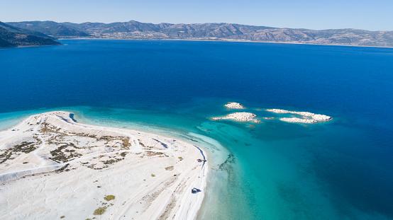 インド洋「こそ湖ブルドゥル トルコの空撮写真」:スマホ壁紙(14)