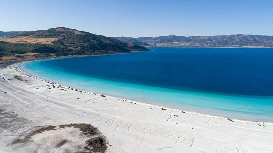 インド洋「こそ湖ブルドゥル トルコの空撮写真」:スマホ壁紙(9)