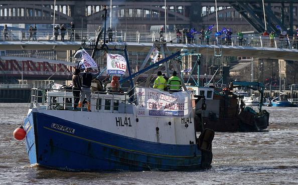 Brexit「Pro-Brexit Group Fishing For Leave Stage Flotilla And Parade」:写真・画像(12)[壁紙.com]
