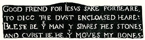 Elizabethan Style「Inscription on Shakespeare's Grave」:写真・画像(14)[壁紙.com]