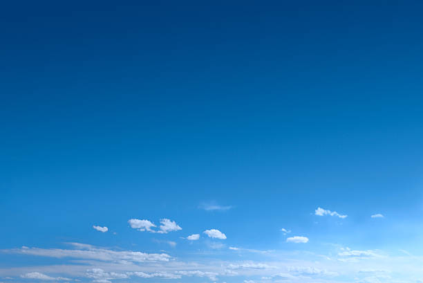 Clear Blue Sky Background With Scattered Clouds:スマホ壁紙(壁紙.com)