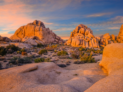 Boulder - Rock「Southwest desert USA  at Joshua Tree National Park, CA」:スマホ壁紙(13)