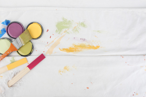 Canvas Fabric「Painting Background with Paint Can Lids」:スマホ壁紙(17)