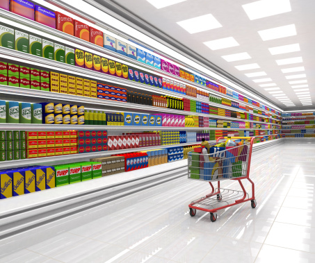 For Sale「Shopping cart in the supermarket.」:スマホ壁紙(16)
