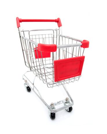 Retail「Shopping Cart isolated on white background」:スマホ壁紙(2)