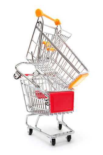 Sold Out「Shopping Cart isolated on white background」:スマホ壁紙(16)