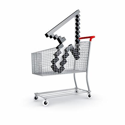 Online Shopping「Shopping cart with arrowsymbol」:スマホ壁紙(14)