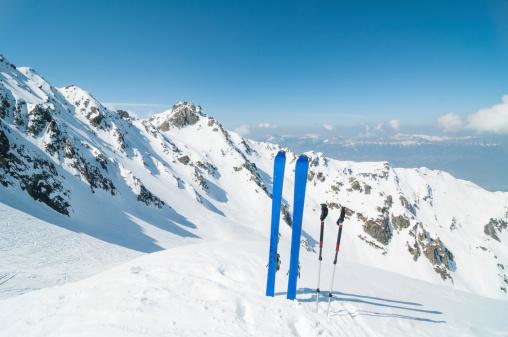 La Grave「Winter High Mountain Landscape with ski」:スマホ壁紙(7)