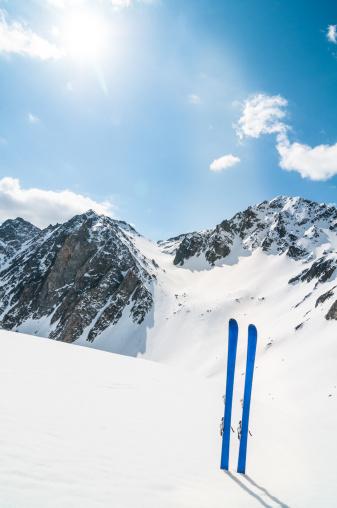 スキー「冬の山でのスキー風景」:スマホ壁紙(15)