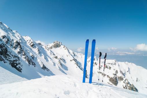 La Grave「Winter High Mountain Landscape with ski」:スマホ壁紙(8)