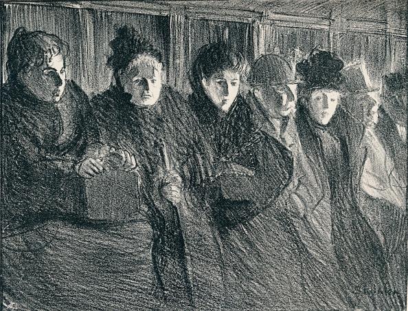 Patience「Inside A Tramcar, 1896, (1898). Artist: Theophile Alexandre Steinlen」:写真・画像(8)[壁紙.com]