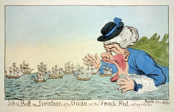 Cartoon「John Bull The Leviatan Of The Ocean Or The French Fleet Sailing Into The Mouth Of The Nile December」:写真・画像(0)[壁紙.com]