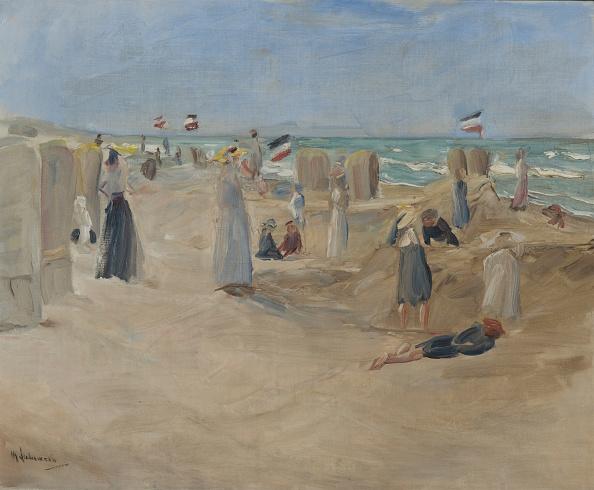 風景(季節別)「On The Beach At Noordwijk 1908」:写真・画像(15)[壁紙.com]