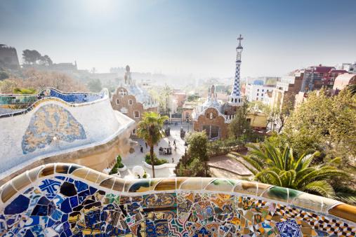 Barcelona - Spain「Park Güell」:スマホ壁紙(11)