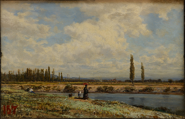 Painting - Activity「Vichy Banks Noon 1870」:写真・画像(5)[壁紙.com]