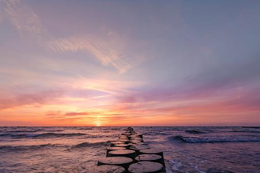 Sea「sunset east baltic sea」:スマホ壁紙(14)