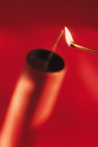 Firework - Explosive Material「Stick of dynamite being lit」:スマホ壁紙(2)